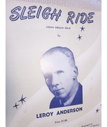 Vintage Sheet Music Sleigh Ride Conn Organ Music by Leroy Anderson 1957 - $9.00