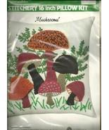 "WONDER ART STITCHERY 16"" PILLOW KIT "" MUSHROOMS"" - $19.95"
