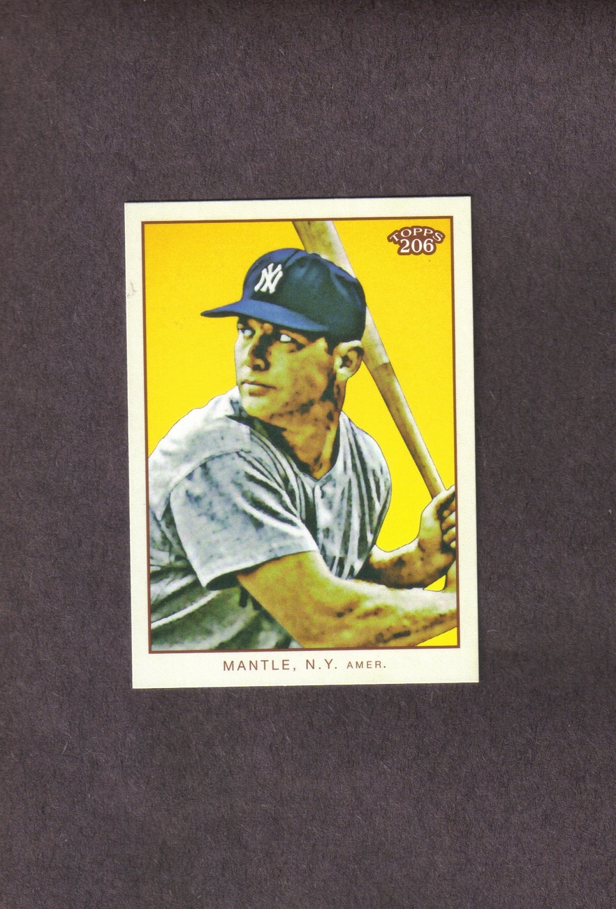 2009 Topps 206 Mickey Mantle Checklist 5 of 7