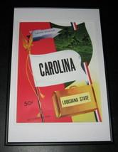 1948 LSU vs North Carolina Football Framed 10x14 Poster Official Repro - $37.04