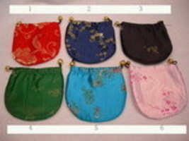 Wholesale Lot of 6 Silk Jewelry Gift Pouch Bags New! - $3.00