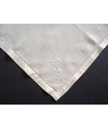 Handkerchief Antique English Fine Linen Embroidered White 1920s Wedding - $8.00