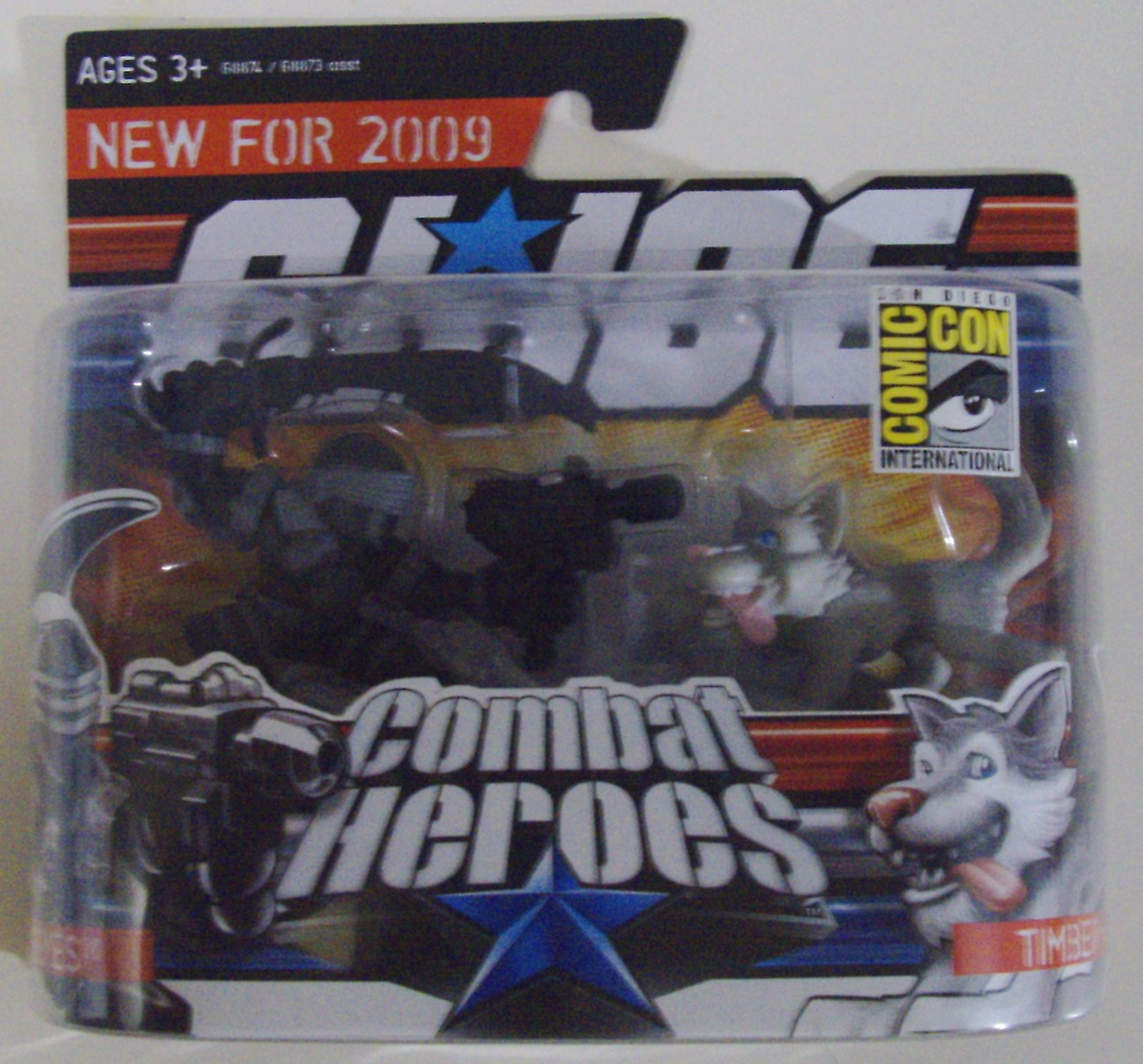GI Joe Combat Heroes Snake Eyes w/ Timber 2009 San Diego Comic Con SDCC - New