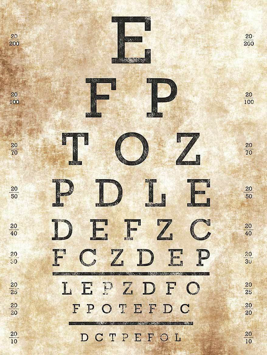 Primary image for Optometrist Eye Chart Vision Test