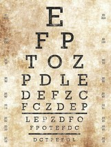Optometrist Eye Chart Vision Test - $24.95