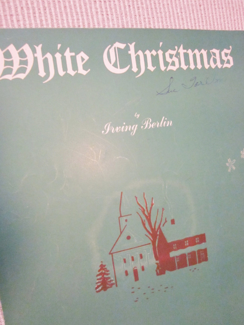 Vintage Sheet Music White Christmas by Irving Berlin 1942 lot 2