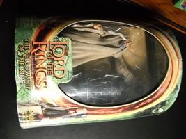 LOTR Saruman with Floating Palantir 2001 Toy Biz Fellowship Still Factor... - $15.99