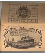 Railroad Steamship ticket folder Marsters Boston NY 1904 ephemera travel - $9.00