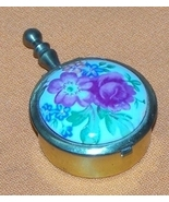 Portable Porcelain Flowered Top Ashtray  - $15.00