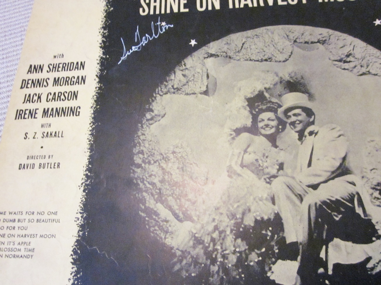 Vintage Sheet Music Time Waits For No One by Friend and Tobias