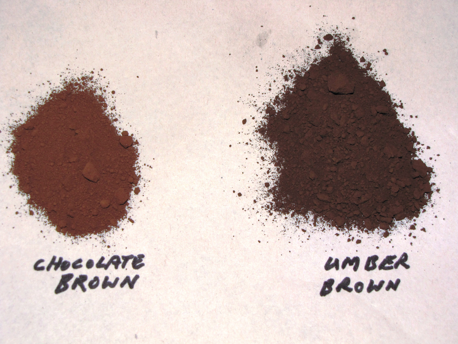 1 LB. UMBER BROWN POWDER TO COLOR CONCRETE, CEMENT, PLASTER, GROUT OR BRICKS