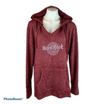 Hard Rock Cafe SEATTLE Buttery Soft Light Jersey Hoodie Pullover Top XL Red - $33.99