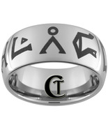 10mm Tungsten Carbide Dome Stargate Design Ring... - $49.00