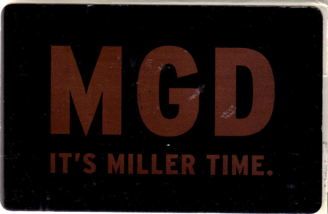 MGD It's Miller Time Promo Playing Cards, Used, Complete, Great