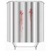 3D 180 x180cm Halloween Blood Fingerprints Waterproof Shower Curtain Bat... - $20.79