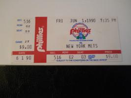 1990 Philadelphia Phillies vs. New York Mets Ticket Stub (SKU2) - $9.49