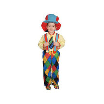 Deluxe Circus Clown Children's Costume Set - Large - New - $29.20