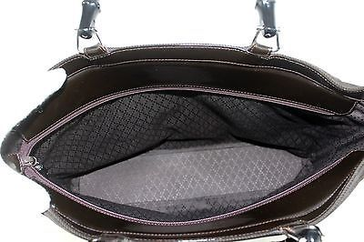 49a17e4a4df 100% Authentic GUCCI Nylon   Leather Brown Bamboo Handle 2 Way Hand  Shoulder Bag