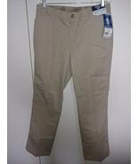 LEE RIDERS LADIES COMFORT WAIST STRAIGHT LT. BROWN CASUAL PANTS-14P-NWT-$20 - $7.99