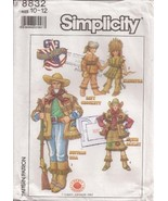 S8832 Annie Oakley Davy Crockett Hiawatha Buffalo Bill Pattern Child's 1... - $9.95