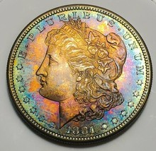 1881 S DAZZLING LUSTER RAW  MORGAN SILVER DOLLAR . KEY DATE  519 - $93.10