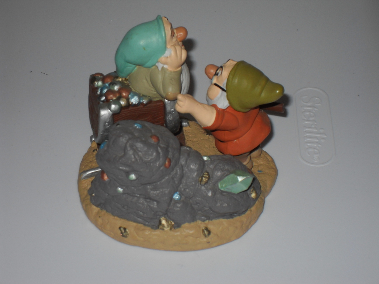 Disney Snow White Doc And Sleepy figurine In The Mine