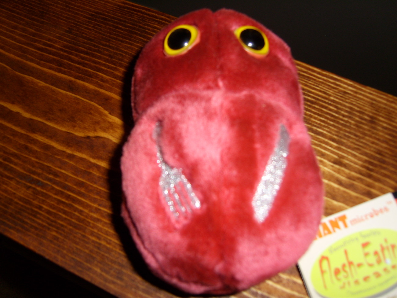 Giant Microbes plush Flesh Eating Disease  new with tags