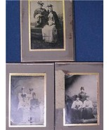 ANTIQUE 3 TINTYPES VICTORIAN WOMEN WITH FABULOUS HATS - $5.99