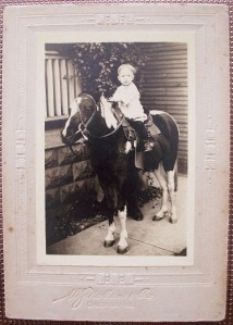 1920's PHOTO BOY MARVIN RUSSELL ON HORSEBACK CHICAGO