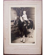 1920's PHOTO BOY MARVIN RUSSELL ON HORSEBACK CHICAGO - $4.99