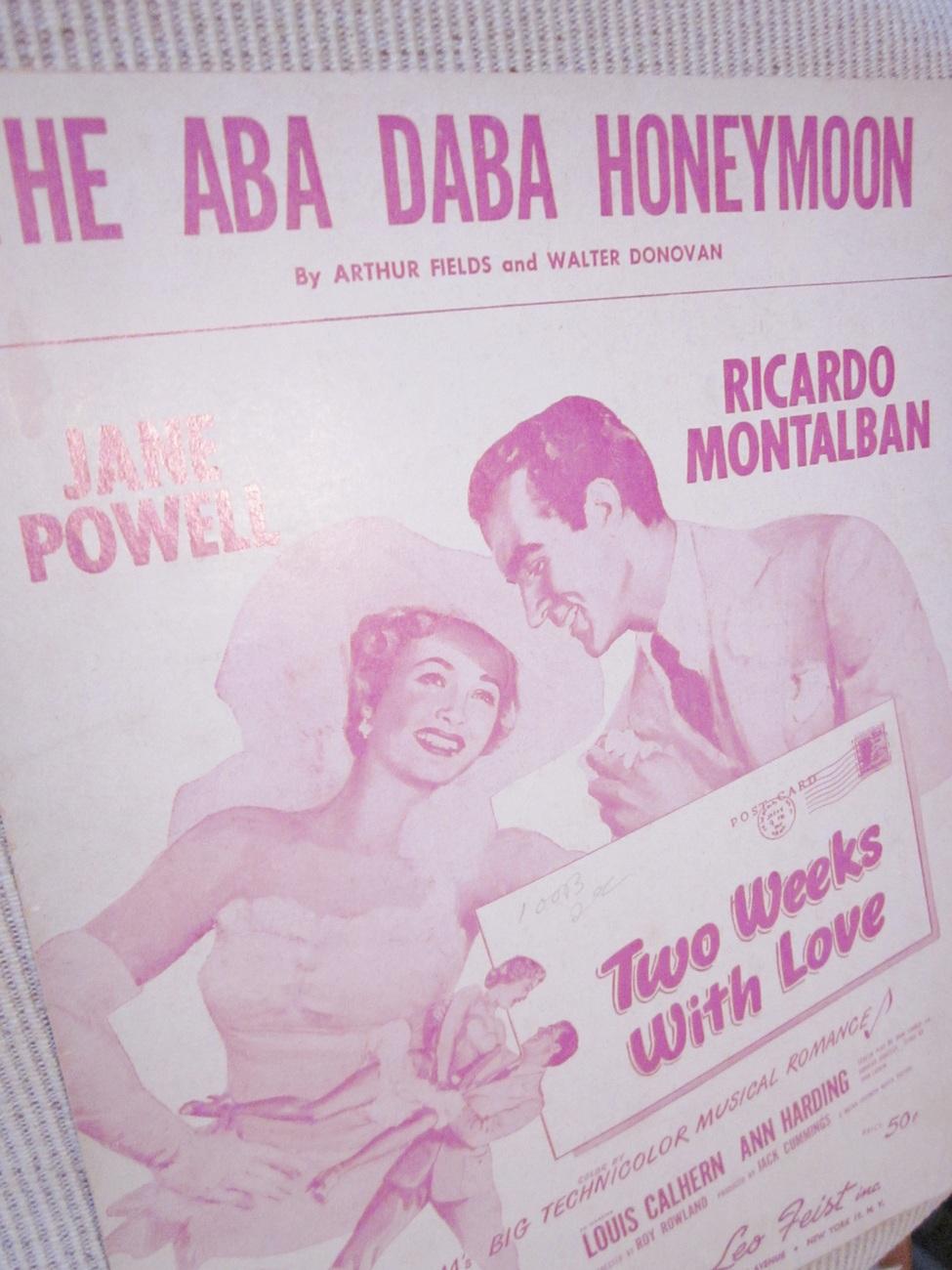 Vintage Sheet Music  The Aba Daba Honeymoon by Fields & Donovan
