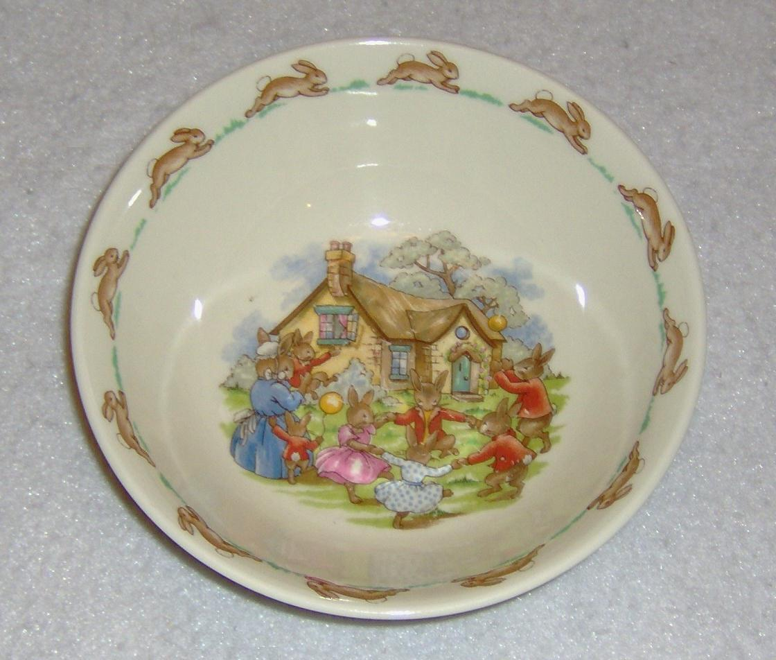 Royal Doulton Bunnykins Bowl English Fine Bone China Vintage Ring Around Rosie & Royal Doulton Bunnykins Bowl English Fine and 36 similar items