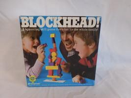 Blockhead! Family Balancing Skill Game by Pressman 1982  wood blocks - $18.02