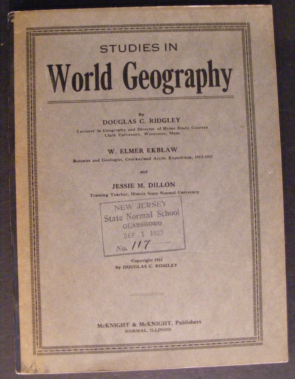 1923 Studies in World Geography