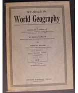 1923 Studies in World Geography  - $45.00