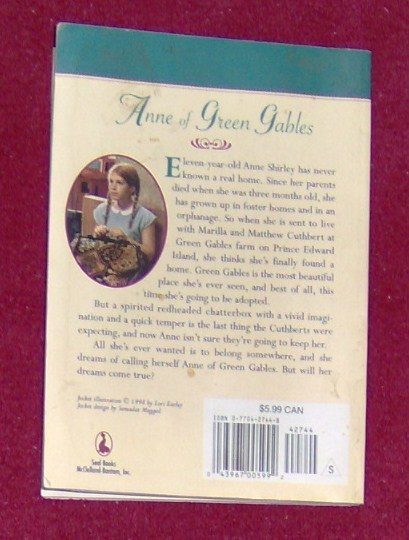 Anne Of Green Gables by Lucy Maud Montgomery Younger Readers Softcover  Book