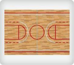 Basketball Background Edible Image Cake Topper - $12.00
