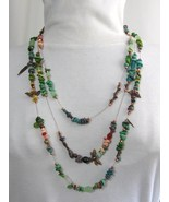 MultiStrand MultiColor Copper & Mixed Stone Necklace, RKMixa - $95.00