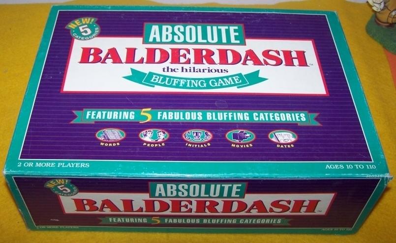 Balderdash The Hilarious Bluffing Game 1995 Edition Unknown 10