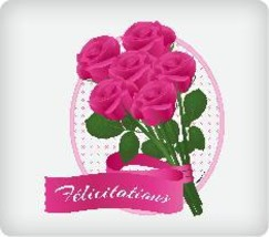 Felicitations Edible Image Cake Topper - $12.00