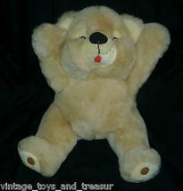 "16"" Big Vintage Mty International Tan Brown Teddy Bear Stuffed Animal Plush Toy - $24.20"