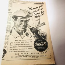 Vintage 1940 Coca Cola Newspaper advertisement Cleveland Ohio Bottling Company - $9.89