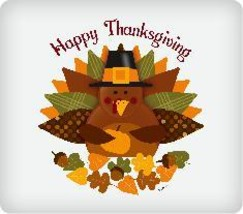 Happy Thanksgiving Edible Image Cake Topper - $12.00