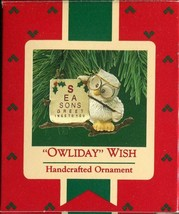 1987 - New in Box - Hallmark Christmas Keepsake Ornament - Owliday Wish - $5.93