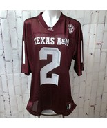 Adidas mens Texas A&M TAMU Football Jersey Mesh Shirt #2 LARGE - $22.56