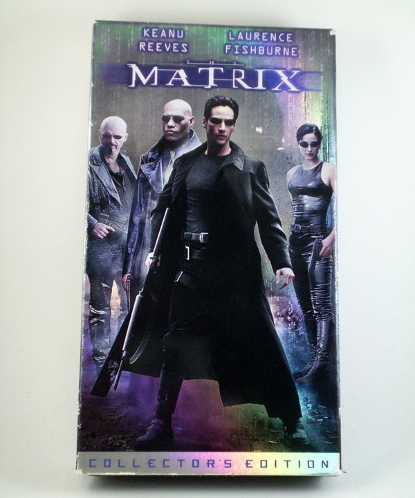 Matrix with Keanu Reeves VHS