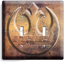 Star Wars Rebel Alliance Jedi Order Double Light Switch Wall Plate Ny Room Decor - $9.71