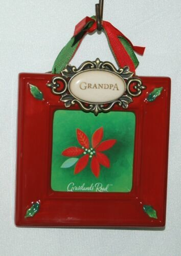 Grasslands Road 455179 Christmas Picture Frame Grandpa Color Red