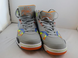 2013 Nike Air Flight Mid Shoes - Grey Base with Rainbow Paint Pattern - Size 11  - $115.00