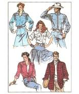 Simplicity 8178 Unisex Loose-Fitting Work Western Shirt Pattern - Sz M - $8.95
